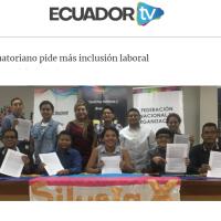 Grupo LGBTI ecuatoriano pide más inclusión laboral