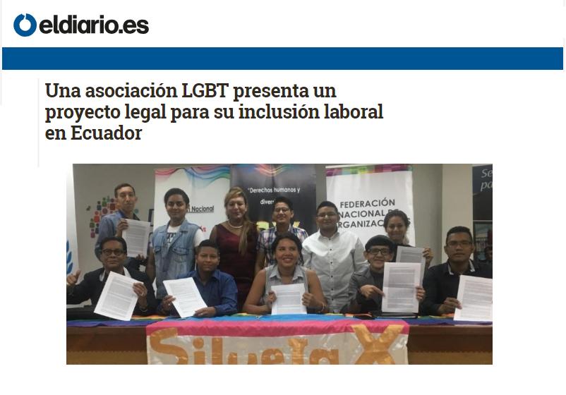 Una asociación LGBT presenta un proyecto legal para su inclusión laboral en Ecuador-Federacion Ecuatoriana LGBTI-Plataforma Revolucion Trans-Transmasculinos Ecuador-Asociacion Silueta X-Camara de Comercio LGBT de Ecuador.png