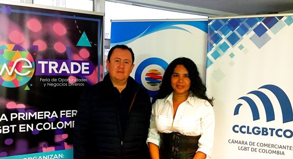 Meeting between the LGBT Chamber of Commerce and Business of Ecuador Diane Rodríguez and the Chamber of LGBT Merchants of Colombia Bogotá
