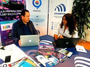 Reunión entre la Cámara de Comercio y Negocios LGBT de Ecuador Diane Rodríguez y la Camara de Comerciantes LGBT de Colombia Bogotá