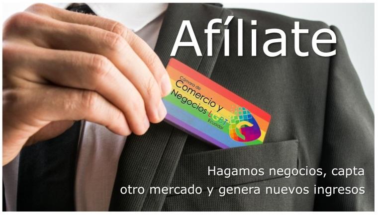 afiliate a la camara de comercio y negocios turismo lgbt del ecuador