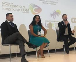 Participación de la Camara LGBT de Comercio y Turismo Ecuador en We Tride de camara de comerciantes colombia Diane Rodriguez (1)