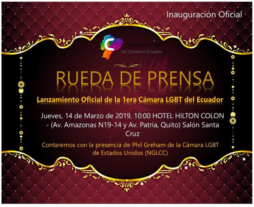 Rueda de Prensa Lanzamiento de la Cámara LGBT de Comercio Ecuador