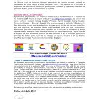 La Cámara LGBT saluda a empresas inclusivas de Ecuador