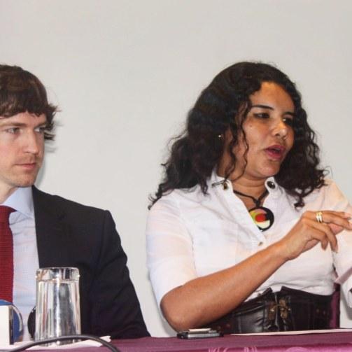 Camara LGBT del Ecuador rueda de prensa sobre lanzamiento - CEO Diane Rodriguez (13)