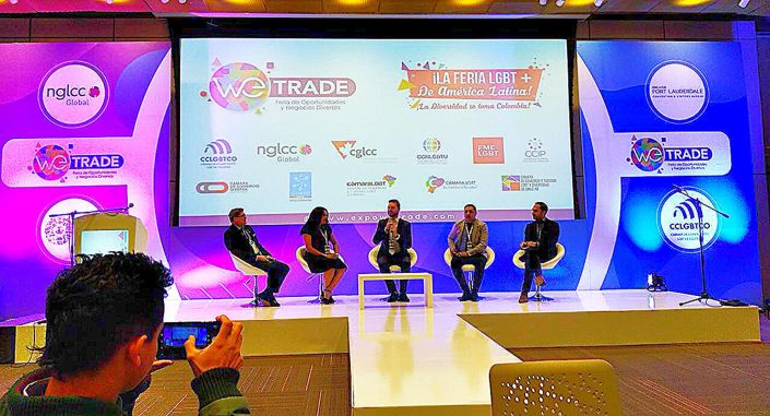 Cámara LGBT de comercio Ecuador en el We Trade Feria de oportunidades en Bogota Colombia (15)