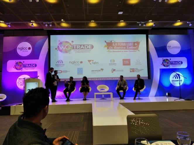 Cámara LGBT de comercio Ecuador en el We Trade Feria de oportunidades en Bogota Colombia (6)