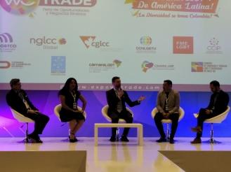 Cámara LGBT de comercio Ecuador en el We Trade Feria de oportunidades en Bogota Colombia - Diane Rodríguez Zambrano - CEO (2)