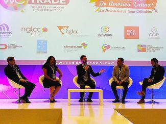 Cámara LGBT de comercio Ecuador en el We Trade Feria de oportunidades en Bogota Colombia - Diane Rodríguez Zambrano - CEO (6)