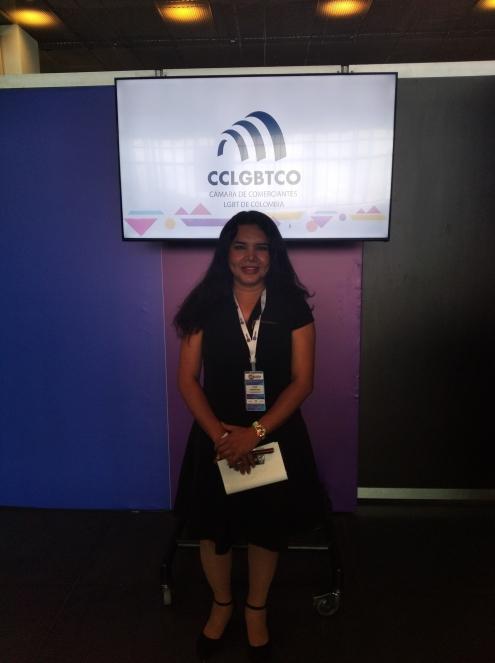 Cámara LGBT de comercio Ecuador en el We Trade Feria de oportunidades en Bogota Colombia - Diane Rodríguez Zambrano - CEO (9)