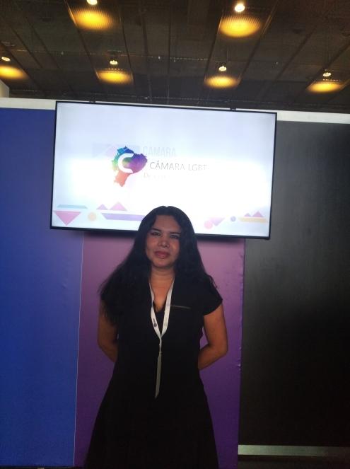 Cámara LGBT de comercio Ecuador en el We Trade Feria de oportunidades en Bogota Colombia - Diane Rodríguez Zambrano - CEO conferencista (1)