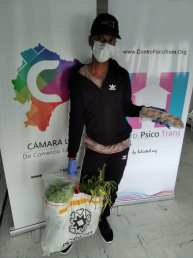 Donación de canastas y alimentos por parte de la Asociación Silueta X, centro Pisco Trans y La Camara LGBT de Comercio Ecuador - Covid19 - Apoyo Prefectura de Pichincha (24)