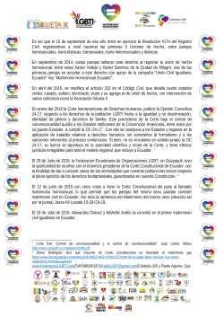Comunicado - Hoy conmemoramos 1 año que en Ecuador todas las personas puedan acceder al Matrimonio Civil - Federación Ecuatoriana de Organizaciones LGBT - Camara LGBT de Comercio - Silueta X-2
